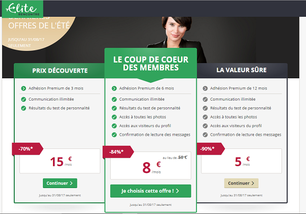 tarif site rencontre internet