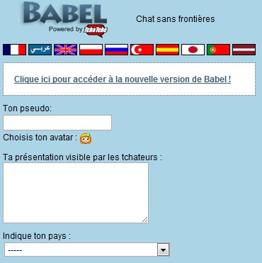 babel tchat gratuit sans inscription)