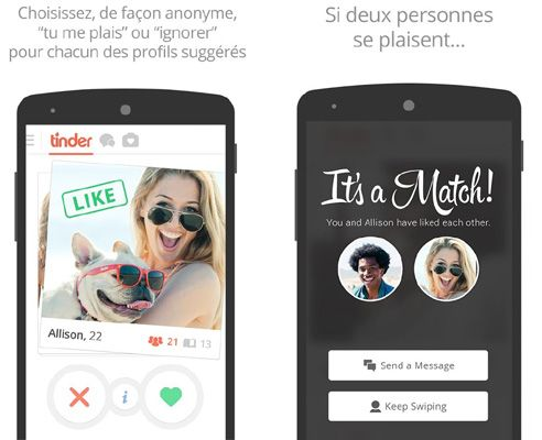 application rencontre tinder)