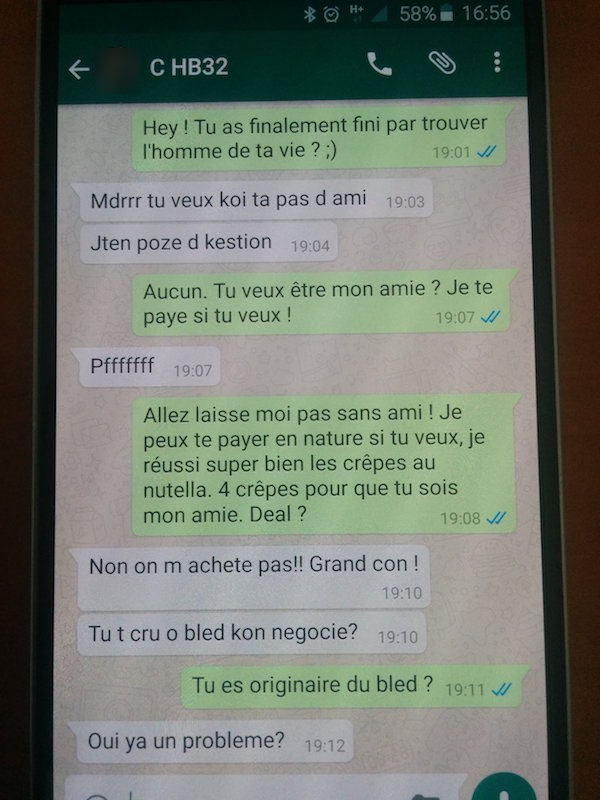 rencontre fille whatsapp