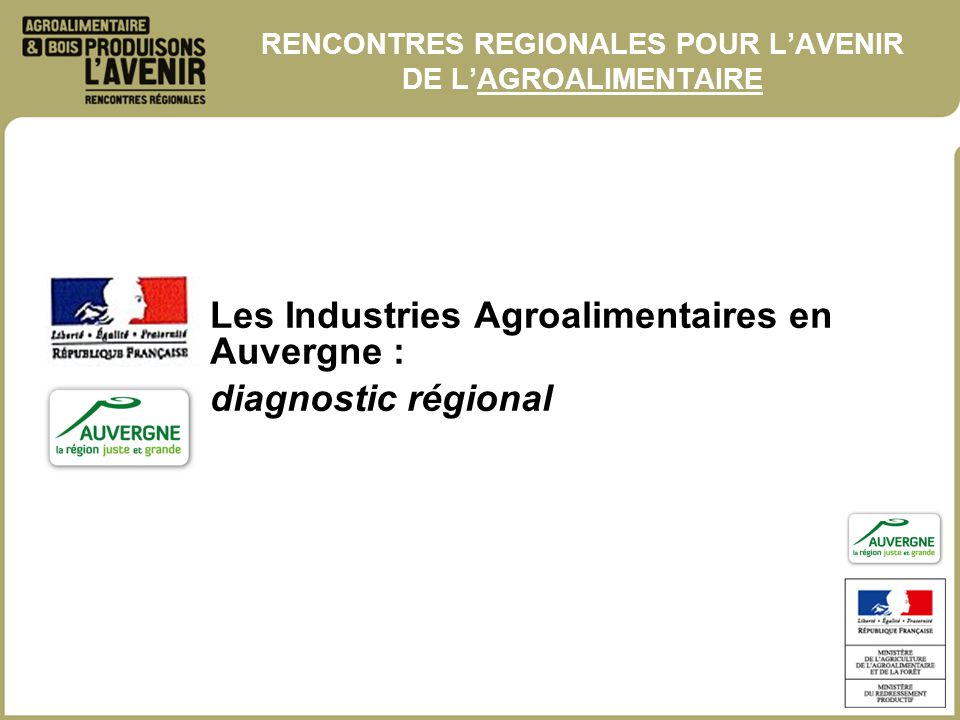 rencontre regionale agroalimentaire)