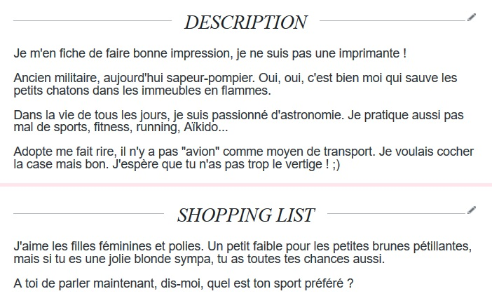 shopping list site de rencontre)