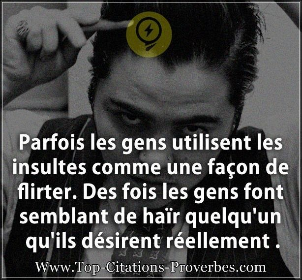 citation pour flirter