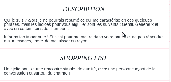 EXEMPLE DESCRIPTION DROLE SITE DE RENCONTRE